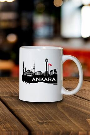 Phi Ajans Ankara Silueti Kupa Bardak 0