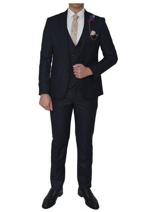 Esse Slim Fit Takim Elbise_lacivert takım01