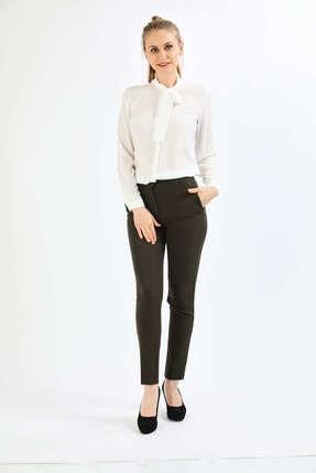 Pera Kadın Beyaz Fular Gömlek 1