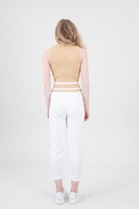 Nisan Triko Kadın Klasik Pantolon Ekru 2