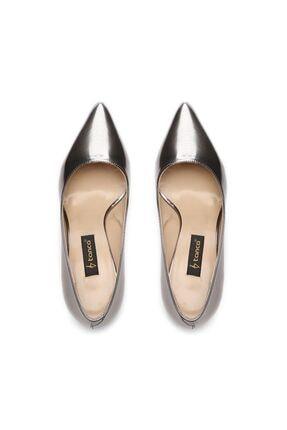 Kemal Tanca Metalik Kadın Vegan Stiletto Ayakkabı 22 278 BN AYK 2