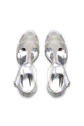 Kemal Tanca Gri Kadın Vegan Klasik Topuklu Ayakkabı 592 2308 BN AYK 3