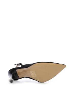 Kemal Tanca Siyah Kadın Vegan Klasik Topuklu Ayakkabı 22 6189 BN AYK Y19 3