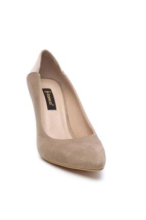 Kemal Tanca Bej Kadın Vegan Klasik Topuklu Ayakkabı 723 001 BN AYK Y19 1