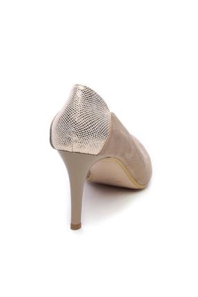 Kemal Tanca Bej Kadın Vegan Klasik Topuklu Ayakkabı 723 001 BN AYK Y19 2