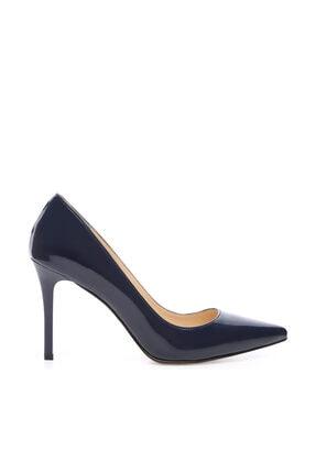 Kemal Tanca Lacivert Kadın Vegan Stiletto Ayakkabı 723 5064 BN AYK Y19 0