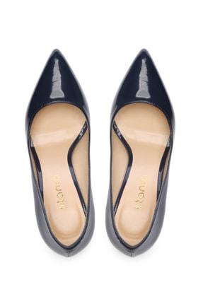 Kemal Tanca Lacivert Kadın Vegan Stiletto Ayakkabı 723 5064 BN AYK Y19 3