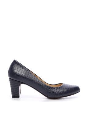 Kemal Tanca Lacivert Kadın Vegan Klasik Topuklu Ayakkabı 723 2032 BN AYK Y19 0