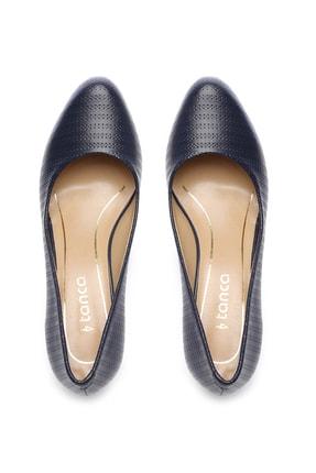 Kemal Tanca Lacivert Kadın Vegan Klasik Topuklu Ayakkabı 723 2032 BN AYK Y19 3