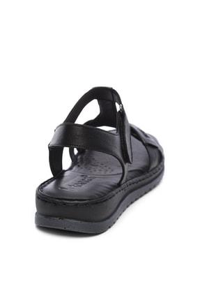 Kemal Tanca Hakiki Deri Siyah Kadın Comfort Sandalet 673 223 BN SNDLT Y19 1