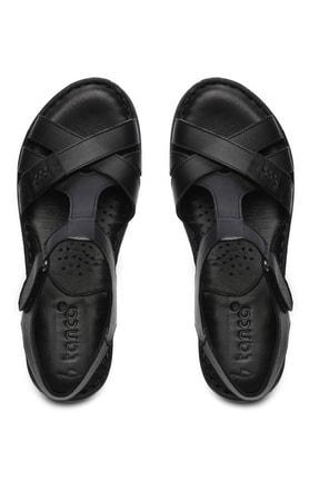 Kemal Tanca Hakiki Deri Siyah Kadın Comfort Sandalet 673 223 BN SNDLT Y19 2