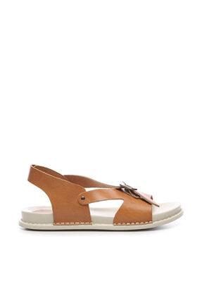 Kemal Tanca Hakiki Deri Kahverengi Kadın Sandalet Sandalet 539 1309 BN SNDLT Y20 0
