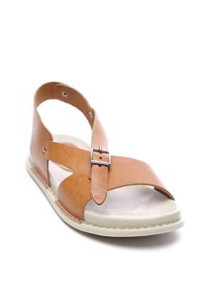 Kemal Tanca Hakiki Deri Kahverengi Kadın Sandalet Sandalet 539 1309 BN SNDLT Y20 1