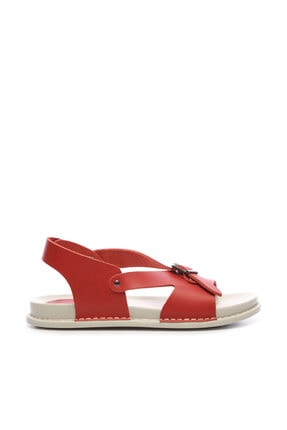 Kemal Tanca Hakiki Deri Kırmızı Kadın Sandalet Sandalet 539 1309 BN SNDLT Y20 0