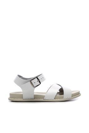 Kemal Tanca Hakiki Deri Beyaz Kadın Sandalet Sandalet 539 1308 BN SNDLT Y20 0