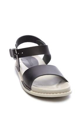 Kemal Tanca Hakiki Deri Siyah Kadın Sandalet Sandalet 539 1301 BN SNDLT Y20 1