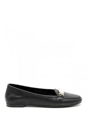 ShoeMaker Siyah Hakiki Deri Taş Toka Detay Kadın Babet 0