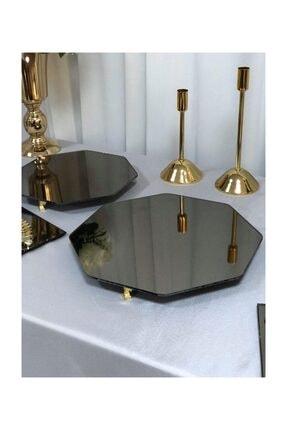 Helvacıoğlu Söz Nişan Gold Petek Sunum Masası Seti Jardinyer Şamdan Metal Vazo Tepsi Full Organizasyon Takım 2
