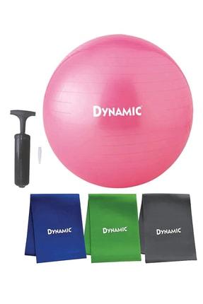 Dynamic 2 Pilates Seti Topu 65 cm+3'lü Pilates Bandı 0