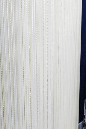 Evdepo Home Hazır Ekstraforlu Krem Çizgili Pilesiz Tül 200 X 200 1