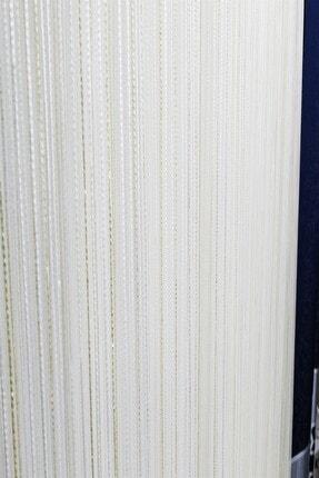 Evdepo Home Hazır Ekstraforlu Krem Çizgili Pilesiz Tül 110 X 200 1