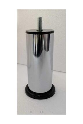CAM MENFEZCİM 4 Adet 10 Cm Metal Baza Ayağı Vidalı Metal Krom Ayak 10 Cm 10 Metrix 0