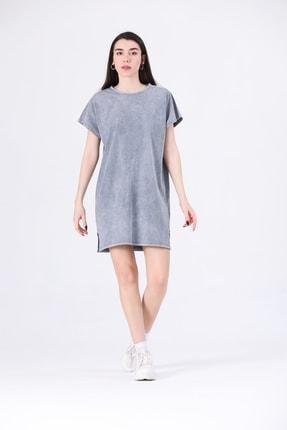 Canela Kadın Elbise Geniş Kalıp Gri 1