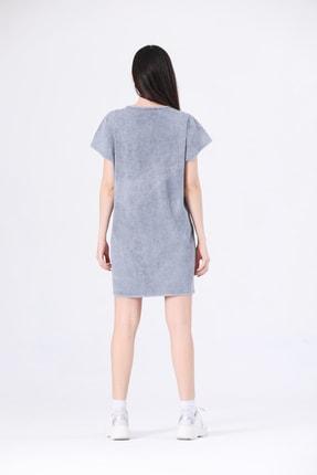 Canela Kadın Elbise Geniş Kalıp Gri 3