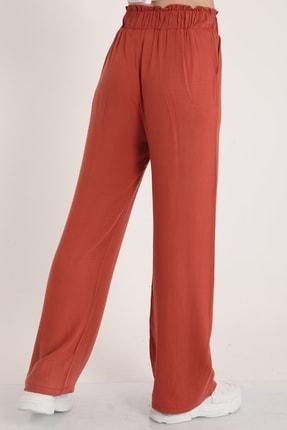MD trend Kadın Gül Kurusu Bel Lastikli Kemerli Salaş Pantolon  Mdt5181 2