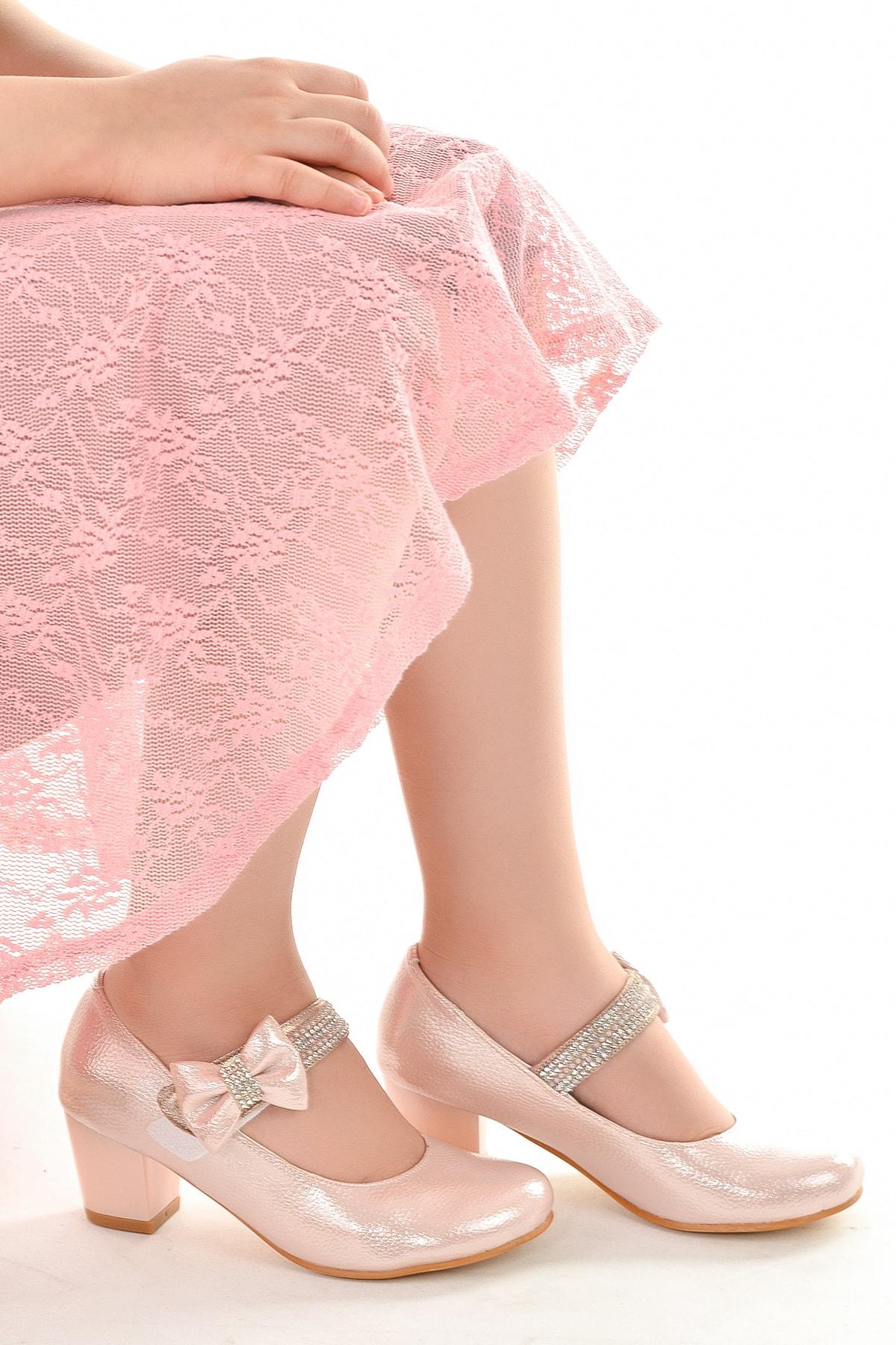 Kiko 752 Günlük Kız Çocuk 4 cm Topuk Babet Ayakkabı