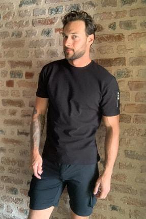 TRENDYOL MAN Siyah Erkek Fermuar Detaylı T-Shirt TMNSS20TS1795 1