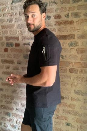 TRENDYOL MAN Siyah Erkek Fermuar Detaylı T-Shirt TMNSS20TS1795 0