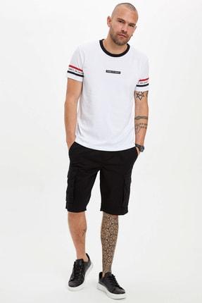 Defacto Erkek Beyaz Baskılı Regular Fit T-Shirt N4571AZ.20SM.WT34 1