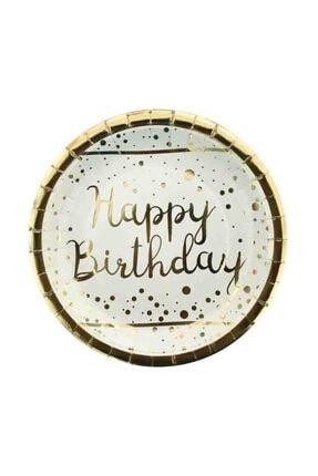 BalonEvi Varak Gold Happy Birthday Tabak 0