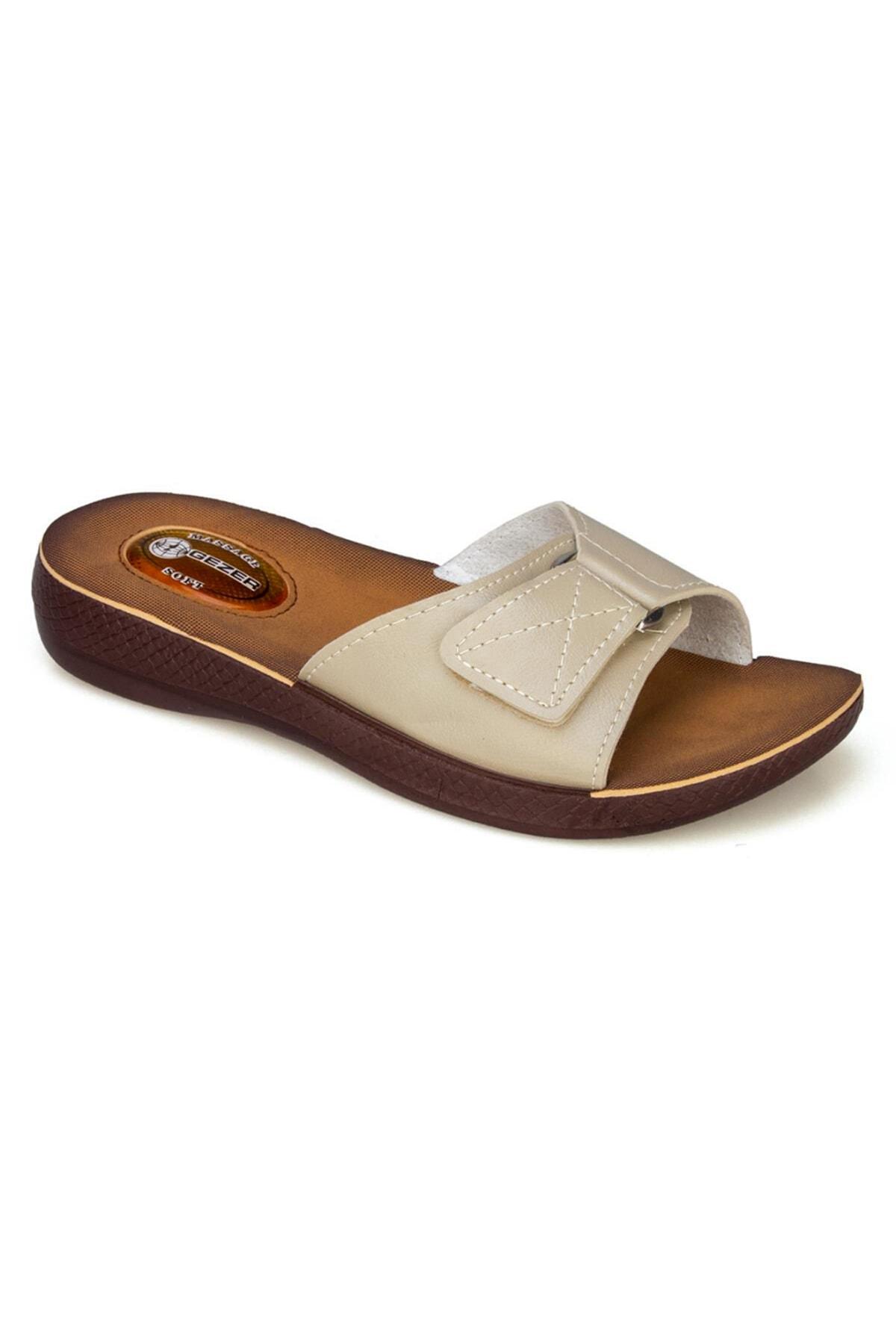 GEZER Kadın Comfort Terlik Jel Topuk Dikeni Terliği 10827