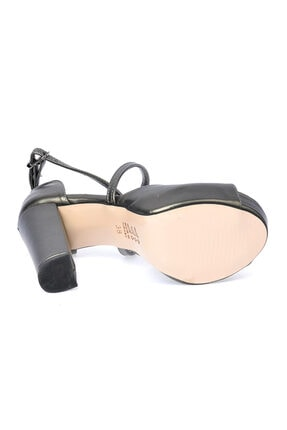 Ayakland Cilt Abiye 11 cm Platform Topuk Sandalet Ayakkabı 3210-2058 4