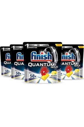 Finish Quantum Max 232 Tablet Bulaşık Makinası Deterjanı Limon(58x4) 1