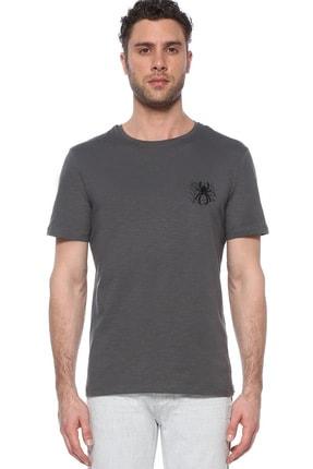 Network Erkek Slim Fit Antrasit Tshirt 1074823 0