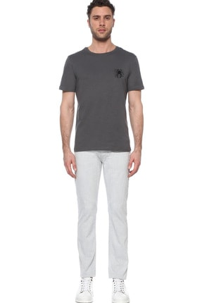 Network Erkek Slim Fit Antrasit Tshirt 1074823 1