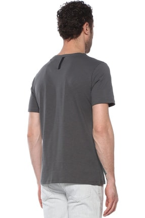 Network Erkek Slim Fit Antrasit Tshirt 1074823 2