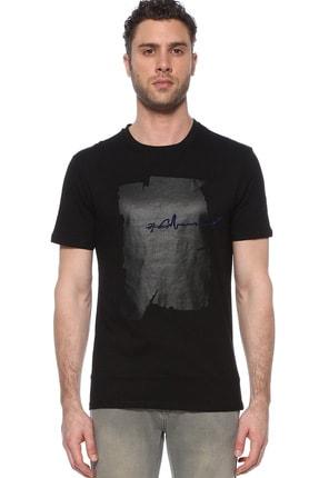 Network Erkek Slim Fit Siyah Tshirt 1074389 0