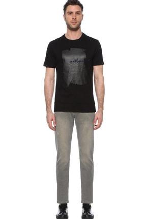 Network Erkek Slim Fit Siyah Tshirt 1074389 1