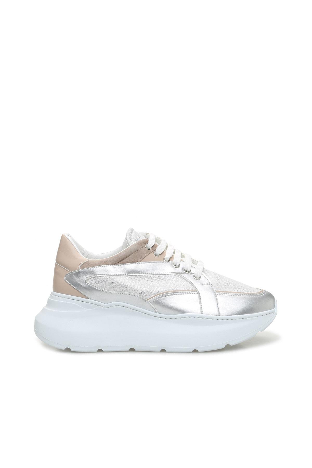 Hakiki Deri Gümüş Rengi Sneaker