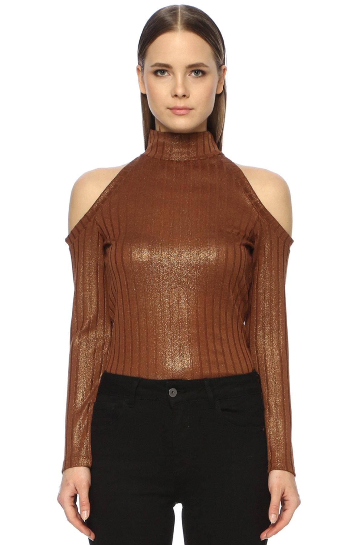 Kadın Slim Fit Bakır Tshirt 1071041