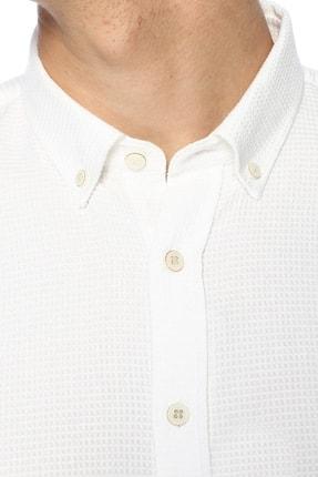 Network Erkek Jakarlı Slim Fit Beyaz Gömlek 1070400 3