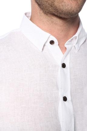 Network Erkek Beyaz Keten Gömlek 1073950 3