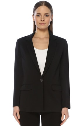 Network Kadın Slim Fit Siyah Ceket 1073403 0