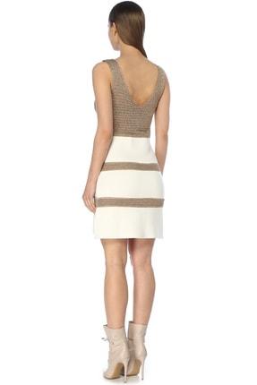 Network Kadın Mini Boy Ekru Elbise 1072931 2