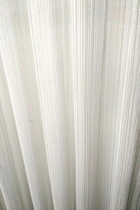 Evdepo Home Hazır Ekstraforlu Mavi Çizgili Pilesiz Tül 120 X 250 1