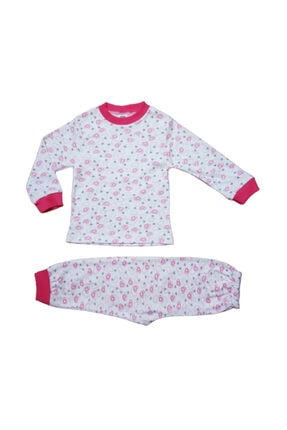 Hece Bebe Kalpli Figürlü Pijama Takımı 0